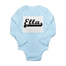 Ella Classic Retro Name Design Body Suit