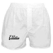Ella Classic Retro Name Design Boxer Shorts