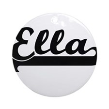 Ella Classic Retro Name Design Ornament (Round)
