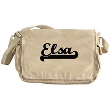 Elsa Classic Retro Name Design Messenger Bag