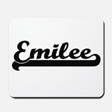 Emilee Classic Retro Name Design Mousepad
