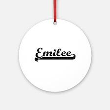 Emilee Classic Retro Name Design Ornament (Round)