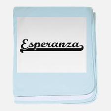 Esperanza Classic Retro Name Design baby blanket