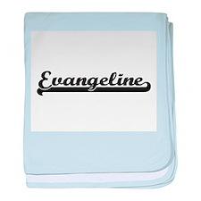Evangeline Classic Retro Name Design baby blanket