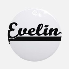 Evelin Classic Retro Name Design Ornament (Round)
