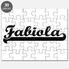 Fabiola Classic Retro Name Design Puzzle