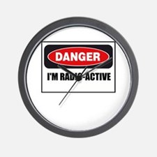 Danger - I'm Radio Active Wall Clock