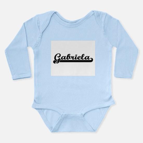 Gabriela Classic Retro Name Design Body Suit