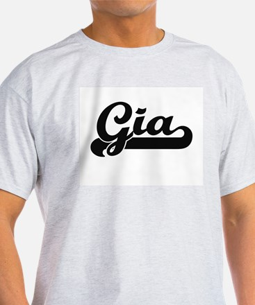 Gia Classic Retro Name Design T-Shirt