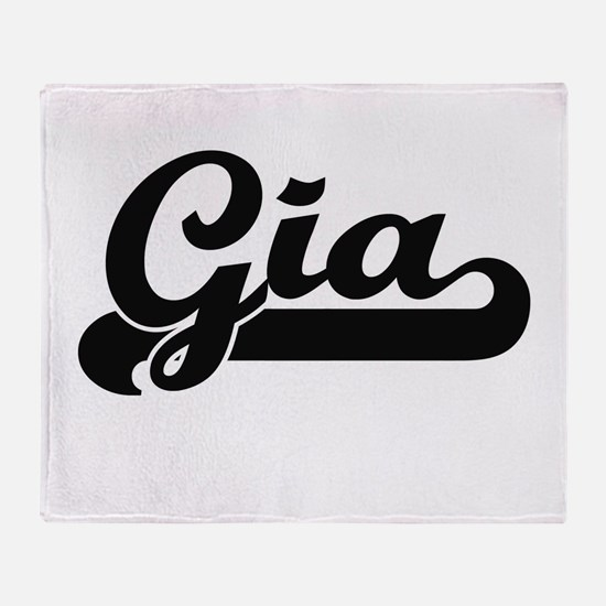 Gia Classic Retro Name Design Throw Blanket