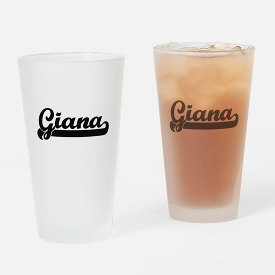 Giana Classic Retro Name Design Drinking Glass