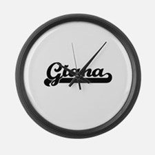Giana Classic Retro Name Design Large Wall Clock