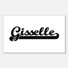 Gisselle Classic Retro Name Design Decal