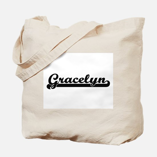 Gracelyn Classic Retro Name Design Tote Bag