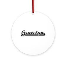 Gracelyn Classic Retro Name Desig Ornament (Round)