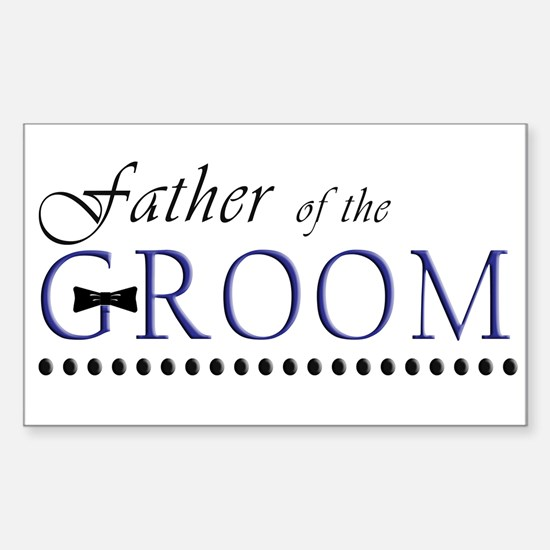 Father of the Groom Rectangle Decal