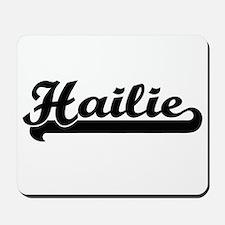 Hailie Classic Retro Name Design Mousepad