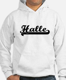 Halle Classic Retro Name Design Jumper Hoody