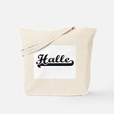 Halle Classic Retro Name Design Tote Bag