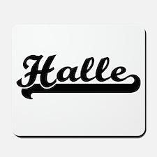 Halle Classic Retro Name Design Mousepad