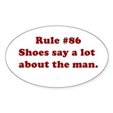 Rule #86 Oval Decal