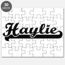 Haylie Classic Retro Name Design Puzzle