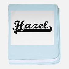 Hazel Classic Retro Name Design baby blanket