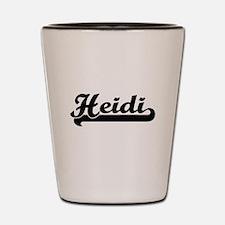 Heidi Classic Retro Name Design Shot Glass