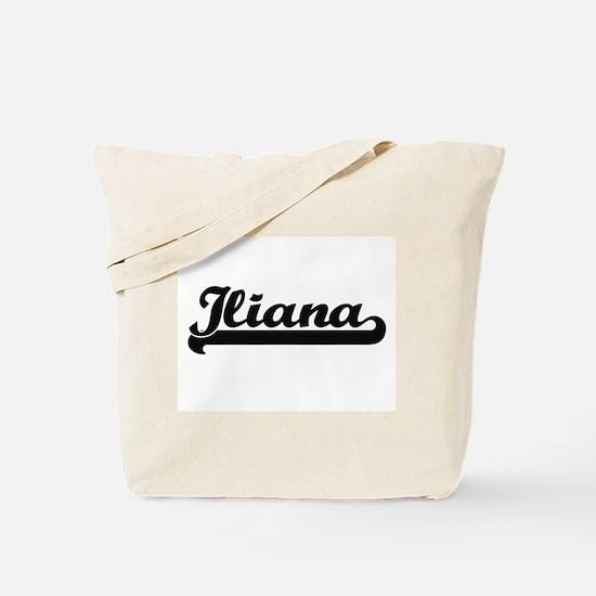 Iliana Classic Retro Name Design Tote Bag
