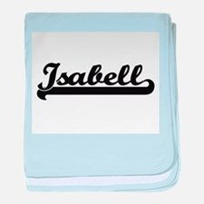 Isabell Classic Retro Name Design baby blanket