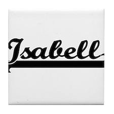 Isabell Classic Retro Name Design Tile Coaster
