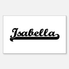 Isabella Classic Retro Name Design Decal