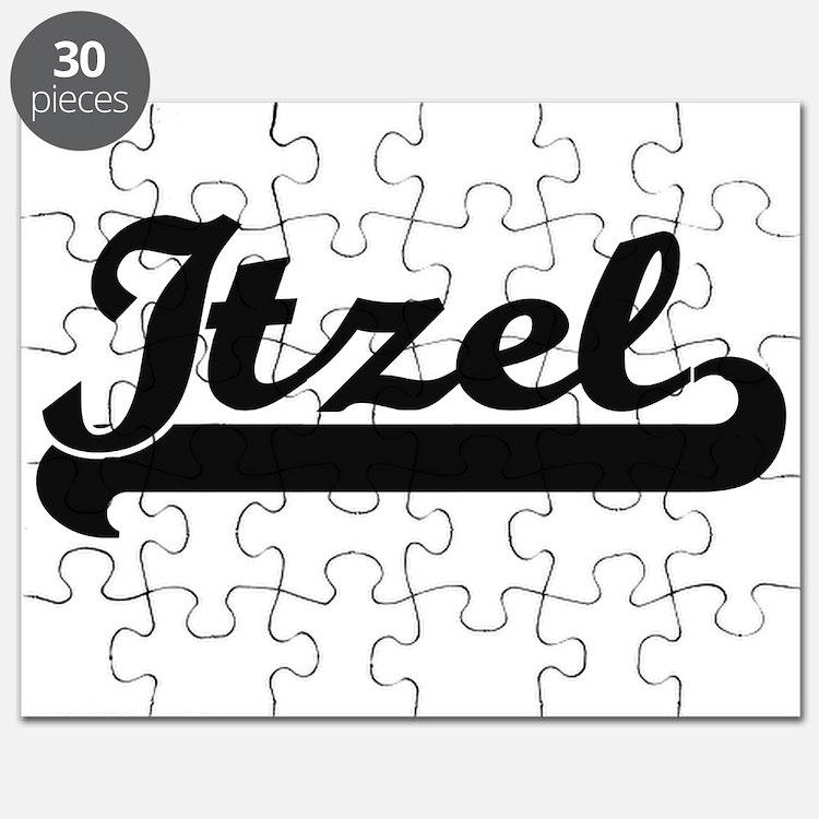 Itzel Classic Retro Name Design Puzzle