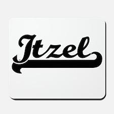 Itzel Classic Retro Name Design Mousepad