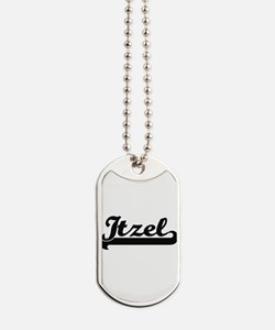 Itzel Classic Retro Name Design Dog Tags