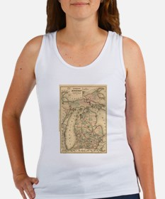 Vintage Map of The Michigan Railroads (18 Tank Top