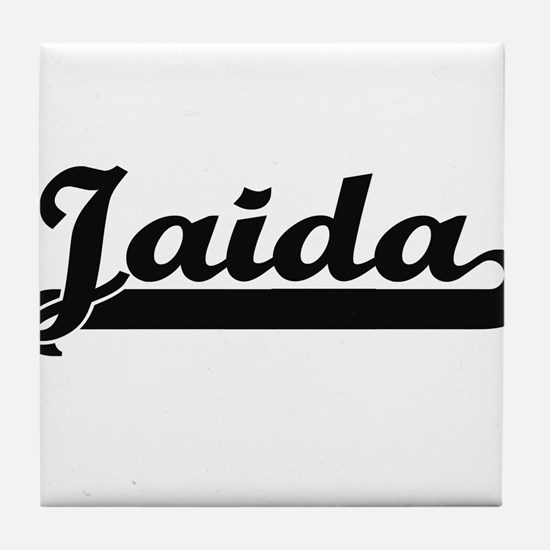 Jaida Classic Retro Name Design Tile Coaster