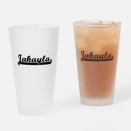 Jakayla Classic Retro Name Design Drinking Glass
