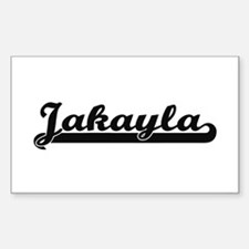 Jakayla Classic Retro Name Design Decal