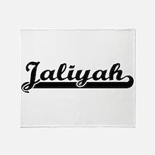 Jaliyah Classic Retro Name Design Throw Blanket