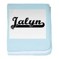 Jalyn Classic Retro Name Design baby blanket