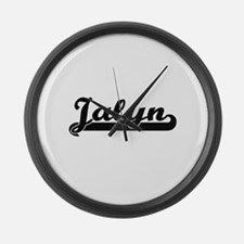 Jalyn Classic Retro Name Design Large Wall Clock