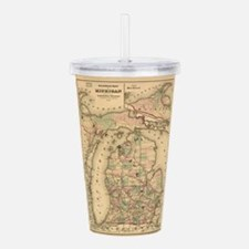 Vintage Map of The Mic Acrylic Double-wall Tumbler