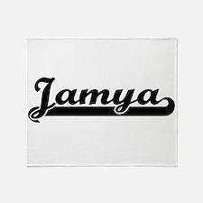 Jamya Classic Retro Name Design Throw Blanket