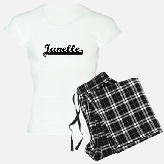 Janelle Classic Retro Name Pajamas