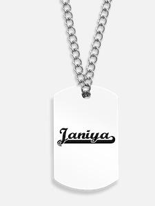Janiya Classic Retro Name Design Dog Tags