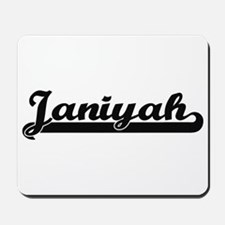 Janiyah Classic Retro Name Design Mousepad