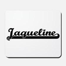 Jaqueline Classic Retro Name Design Mousepad