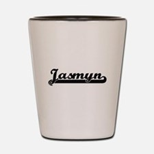 Jasmyn Classic Retro Name Design Shot Glass