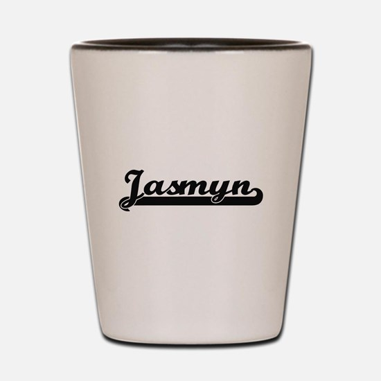 Jasmyn Classic Retro Name Design Shot Glass